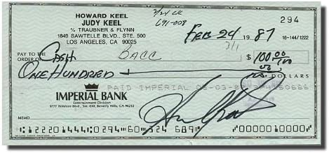 HOWARD Year-end New sales gift KEEL Dallas - Bank Note Check Signed