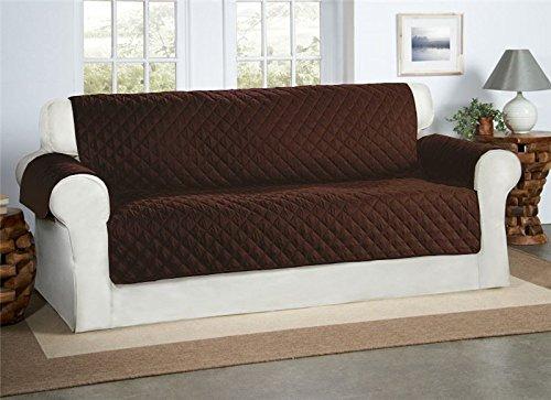 Safari Homeware Cubre para Sillones, Sofás de 1,2,3 Plazas - Protector para Muebles Acolchado (Marrón Chocolate, Sofá de tamaño estándar)