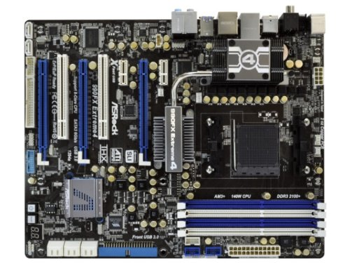 ASRock 990FX Extreme4 Mainboard AMD Phenom II/ Athlon II/ Sempron Sockel 940 990FX ATX RAID Gigabit LAN