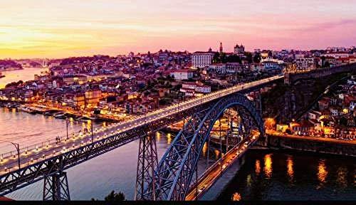 Fai da Te Presente Puzzle 1000 Pezzi per Bambini Adulto Grande Difficile in Legno Ponte di Lisbona, Portogallo