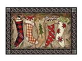 "MatMates Christmas Stockings Doormat - 18"" x 30"""