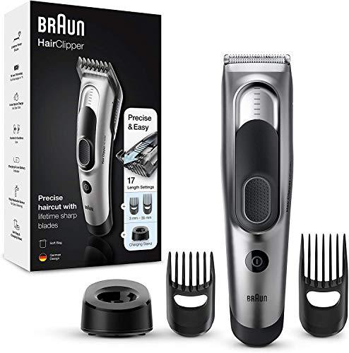 Braun Tagliacapelli HC5090 Rasoio Elettrico Barba, Regolabarba Uomo e Tagliacapelli, con 17 Impostazioni di Lunghezza e 2 Accessori