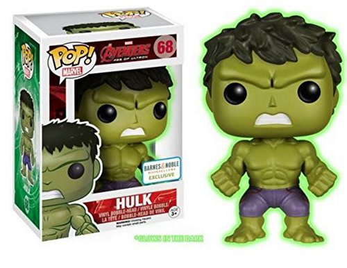 Funko - Figurine Marvel Avengers Age of Ultron - Hulk Glow in the Dark Exclu Pop 10cm - 0849803053314