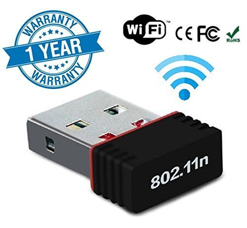 ROCKETKART 2.4Ghz, 600Mbps Wireless WiFi Adapter for pc with High Gain Antenna, Compatible with Windows XP/7/8/8.1/10 - MAC OS 10.7~10.13