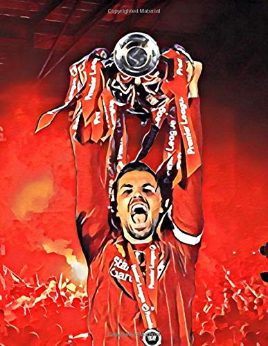 """Jordan Henderson #14 Liverpool Premier League Champions 2019-2020 Notebook: 8.5"""" x 11"""" 120 Pages Matte Finish: Black Lined Notepad Journal with ... Anfield Kop Celebration Graphic, Edition 1"""