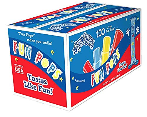 Freeze Pops Icee Ice Pops In A Box, 1.5oz Fun...