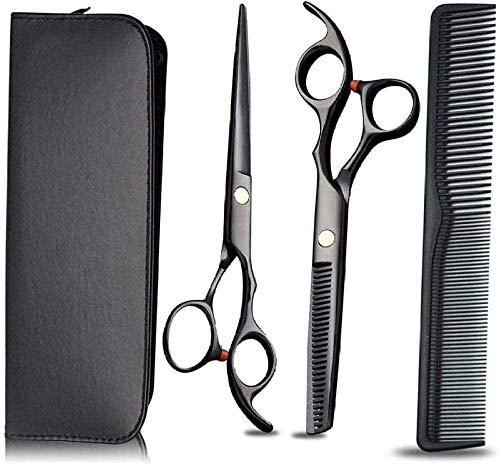 HZWLF Ciseaux de Coiffure Ciseaux de Coiffeur Set en Acier Inoxydable Sharp Hair Thinning Professional Kits pour Hommes Femmes Pet