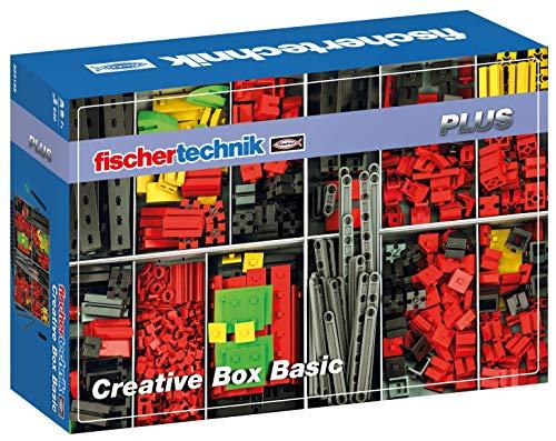 Fischertechnik 554195 Creative Basic-eine große Auswahl an ausgewählten Inhalt: 630 Bauteile, eine Grundplatte, Box 1000 und das Flexible Aufbewahrungssystem