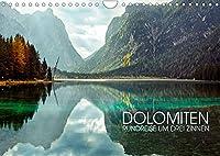 Dolomiten - Rundreise um Drei Zinnen (Wandkalender 2022 DIN A4 quer): Drei-Zinnen-Region in Suedtirol (Monatskalender, 14 Seiten )