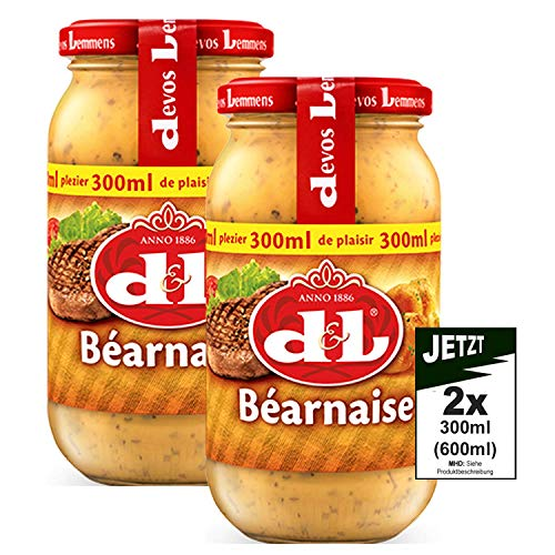 Devos Lemmens D & L Bearnaise Sauce 2x 300ml (600ml) - pikant und würzig