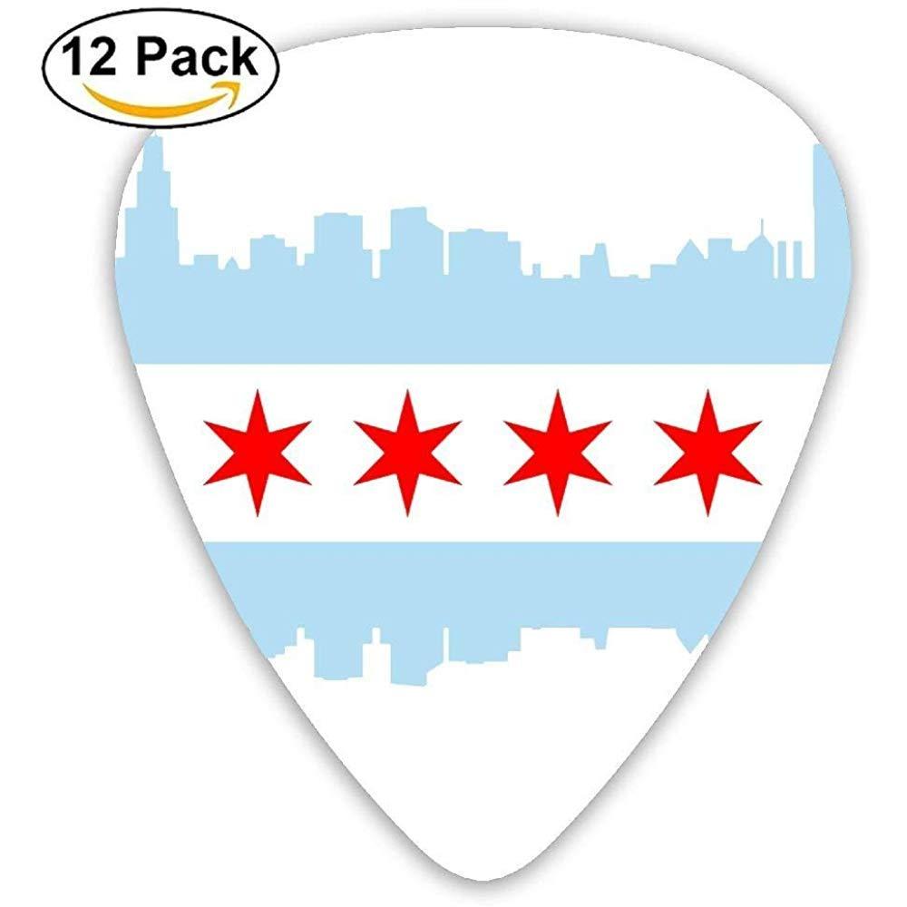 Sherly Yard Pack de 12 púas de guitarra personalizadas Chicago ...