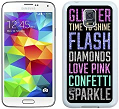 VS Pink 2 White Samsung Galaxy S5 I9600 Shell Phone Case,Nice Look