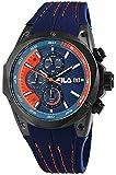 Fila Unisex Erwachsene Analog Quarz Uhr mit Silikon Armband FILA38-823-002