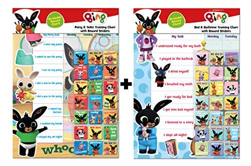 Paper Projects 01.70.24.060 Bing Bumper Pack - Töpfchen und Toiletten Trainingstabelle & Bad & Bedtime Belohnungstabelle