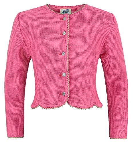 Isar-Trachten Strickjacke Amy für Mädchen - Pink Gr. 152
