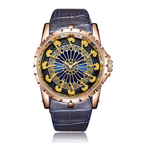 TUOFEIS Relojes Hombre, Caballero Relojes, Relojes Personalizados Manera, Relojes De Moda, Único Impermeable De Los Relojes (Color : Black3)