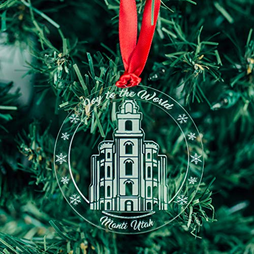 LDS Manti Temple Ornament - Acrylic