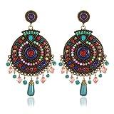 Shining Diva Fashion Jewellery Bohemian Fancy Party Wear Metal Earrings for Women and Girls (Multicolor)