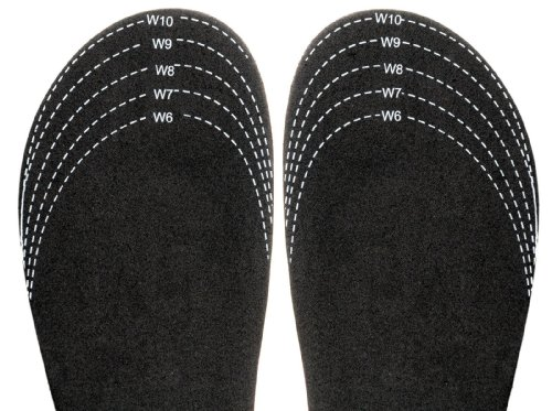 Sloggers cut-to-fit Half-Sizer fit adjusting Insole - Style 330BK , Black