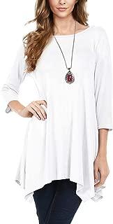 Urban CoCo Women's 3/4 Sleeve Tunic Tops Loose T Shirt Dress
