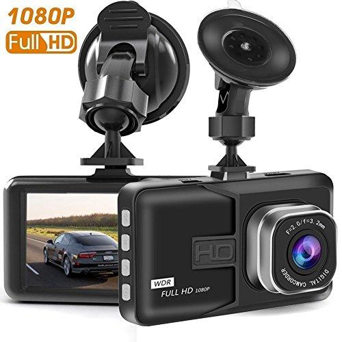 Cámara de Coche Dash Cam 1080P Full HD 170°Ángulo Cámara para Coche G-Sensor Detección de Movimiento Grabación en Bucle HDR con Visión Nocturna