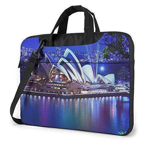 Laptop Shoulder Bag, Sydney Theatre Building Business Briefcase Protective Bag Cover
