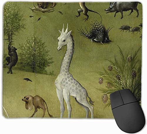Hieronymus Bosch Garden Of Earthly Delights Gaming Mouse Pad Antislip Rubber Mousepad voor Computers Desktops laptop Mouse Mat 9.8