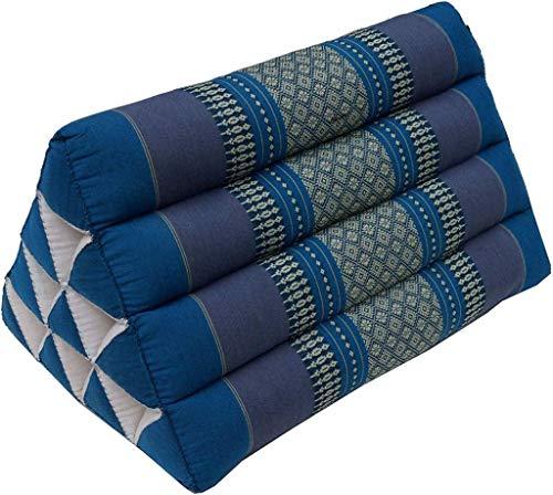 Fine Asianliving Thailändisches Meditationskissen Dreieckskissen Blau 30x50cm Meditation Matte Matratze Boden-Liege-Matte Sitzkissen 301-I03