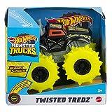 Hot Wheels Monster Trucks Twisted Tredz Ragin Cage'n Coche de Juguete (Mattel GVK43)