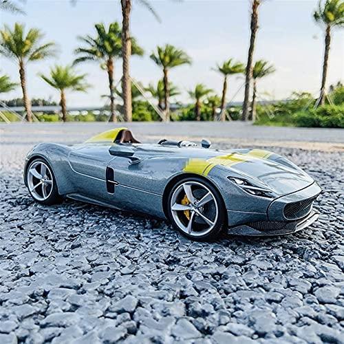 JKSM Coche Modelocinc 1:18 para Ferrari Concept Cars para Monza SP1 Roadster Simulación Estática Coche Modelo Aleación Colección Juguetes para Coche Regalo para Niños