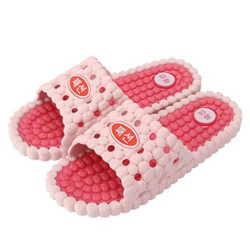 Nwarmsouth House Mule espumas Suaves, Zapatillas de casa Antideslizantes, Sandalias de Masaje de baño-Pink_40-41, Zapatos de Piscina con tobogán de Playa