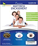 Four Seasons Essentials California King Mattress Protector Bedbug Waterproof Zippered Encasement Hypoallergenic Premium Quality Cover Protects Against Dust Mites Allergens