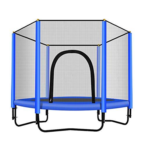 Iboing Trampolino Elastico da Giardino Jumper, Tappeto Elastico con Rete di Sicurezza,per Interno/Esterno/Giardino, per Adulti e Bambini Max 500 kg,Blue