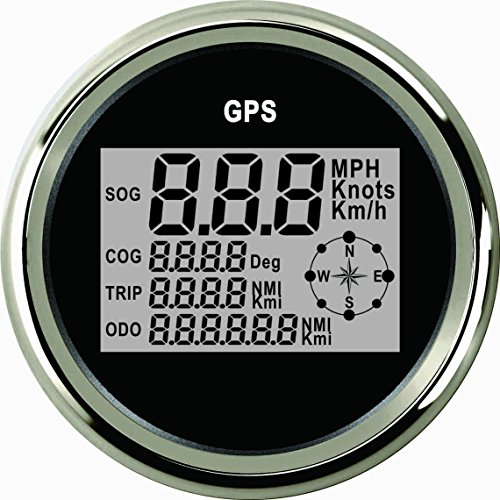 ELING Universal Digital GPS Velocímetro Speedo Gauge ODO COG TRIP Para Coche Moto Camión Yate Barco 3-3/8 pulgadas (85mm) 9-32V