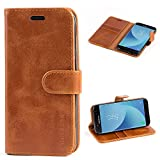 Mulbess Samsung Galaxy J5 2017 Case Wallet, Leather Flip