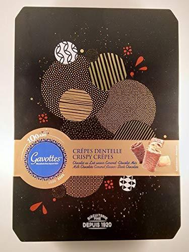 Assortiment de Crêpes dentelles chocolat au lait, saveur caramel, chocolat noir, 400 g