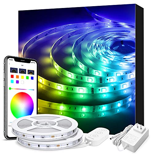 LED Strip Lights Phone Control, Govee 32.8ft Waterproof Wireless Led Light Strip Kit, WiFi Music...