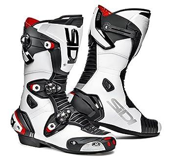 Sidi MAG-1 Bottes de Moto, Blanc/Noir, 43