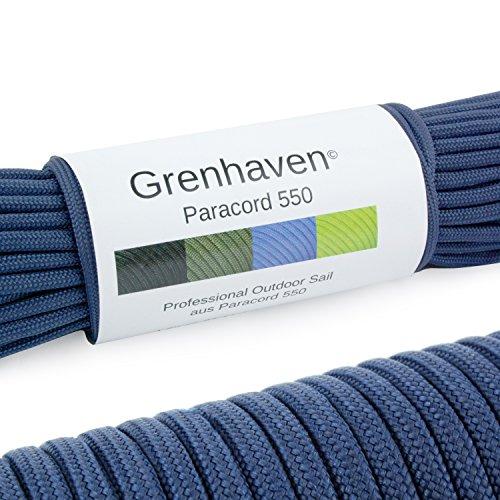 """Grenhaven Paracord Seil Dunkel Blau Fallschirmschnur Universell einsetzbares Survival-Seil mit 7 Strängen 30m 550lbs 100ft aus reißfestem Parachute Cord"""" Achtung!!! Nicht zum Klettern geeignet"""