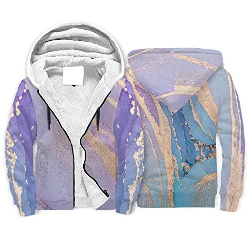 FFanClassic Sudadera de forro polar con capucha para hombre de la novedad elegante de manga larga sudadera de mármol blanco 5xl