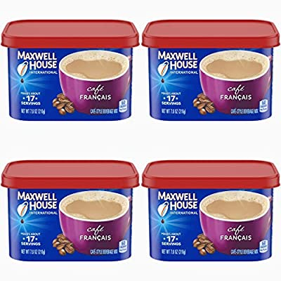 Maxwell House International Cafe Francais Instant Coffee (7.6 oz Canisters) (PACK OF 8)