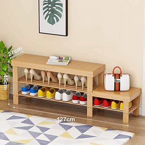 THBEIBEI schoenenbank schoenenrek verandert schoenenbank kleine schoenenkast aan de deur op een magazijn kruk schoenenbank bamboe zit laag huishouden ruimtebesparend multifunctioneel 2