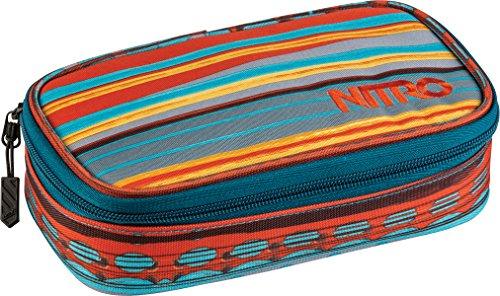 Nitro Pencil Case XL inkl. Geo Dreieick & Stundenplan, Federmäppchen, Schlampermäppchen, Faulenzer Box, Federmappe, Stifte Etui,  Canyon