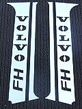 : Conjunto de 4piezas decoración para la puerta de acero inoxidable pulido cromado para camiones de 6 series FH4 / EURO