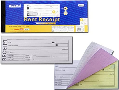 3 Part Rent Receipt Book 30 Sets inches Case 96 x 7.6 2.76 Sale High order of