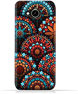 HTC Desire 10 Compact TPU Silicone Protective Case with Geometrical Madalas Pattern