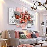 KAIASH Pintura 5 Lienzo HD los Carteles Hermosas Flores Azules Naciones Unidas de Arte Moderno para Interiores de