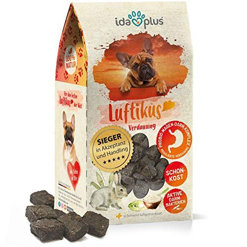 Ida Plus Luftikus - unterstützt die Darmflora vom Hund & fördert die gesunde Verdauung vom Hund - mit Aktivkohle & Probiotika für Hunde - Hunde Snacks getreidefrei & ohne Zucker - für bis zu 30 Tage