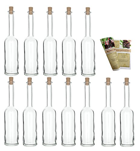 con Mango Corcho Cierre 0,2/L L de Licor Botellas 200/ml Chupito Botellas vinagre Botellas Aceite slkfactory 10/Botellas Vac/ías 200/ml OPI de HGK Botellas peque/ñas