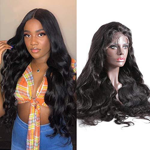 Volvetwig Perruque Ondule Cheveux Brésilienne Femme 13x4 Lace Front Wig Human Hair Cheveux Humain Naturel Vierge Remy 100% Swiss Lace Wig Pre Plucked non Transformé 16 pouce